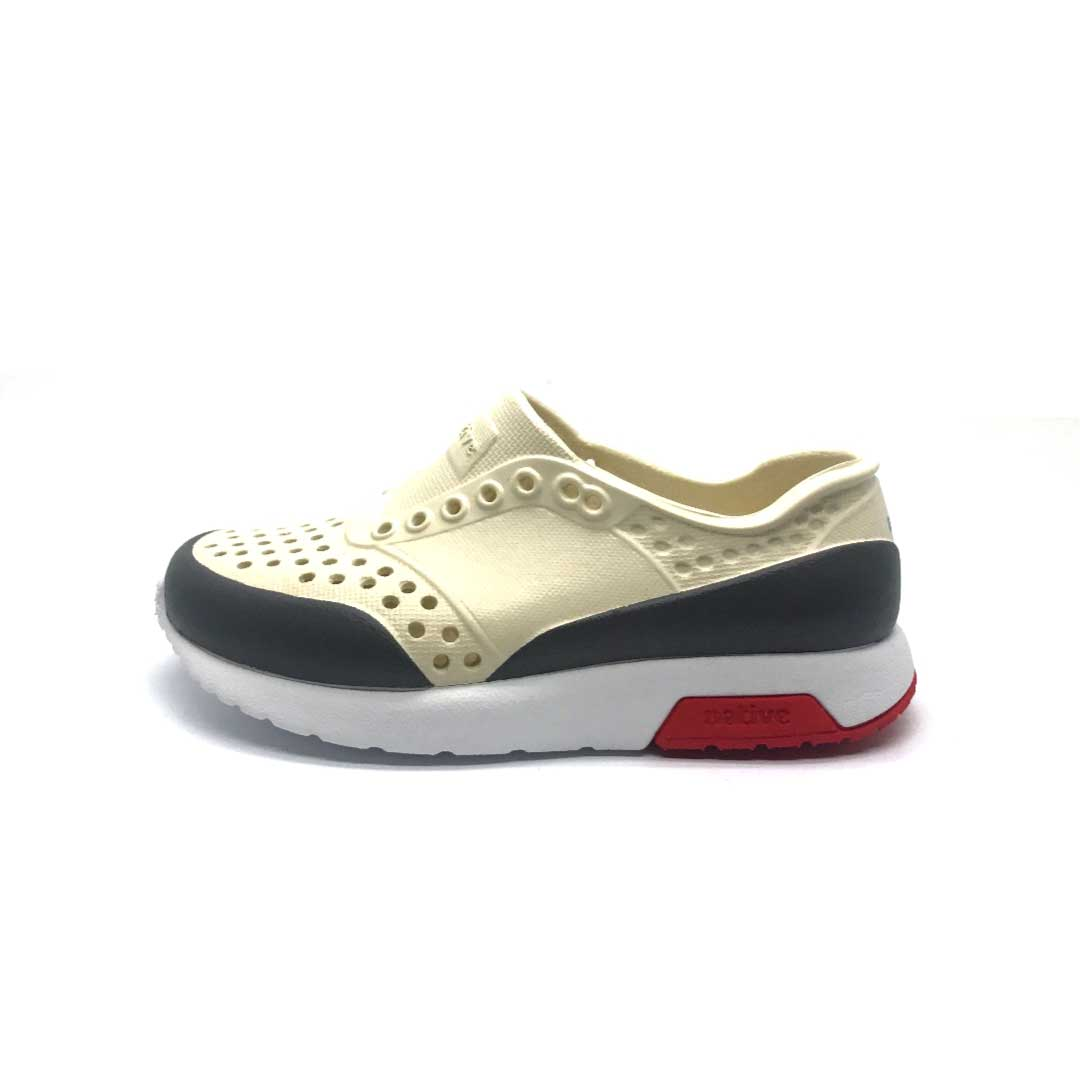 Lennox Shoes Block Bone White/Red/grey