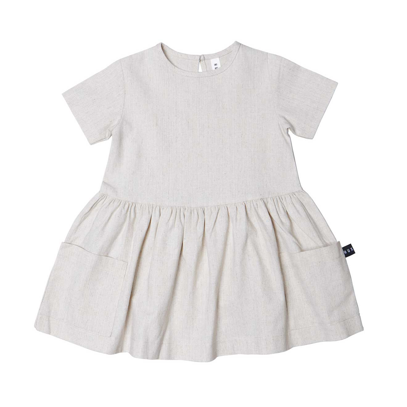 Natural Linen Girls Dress