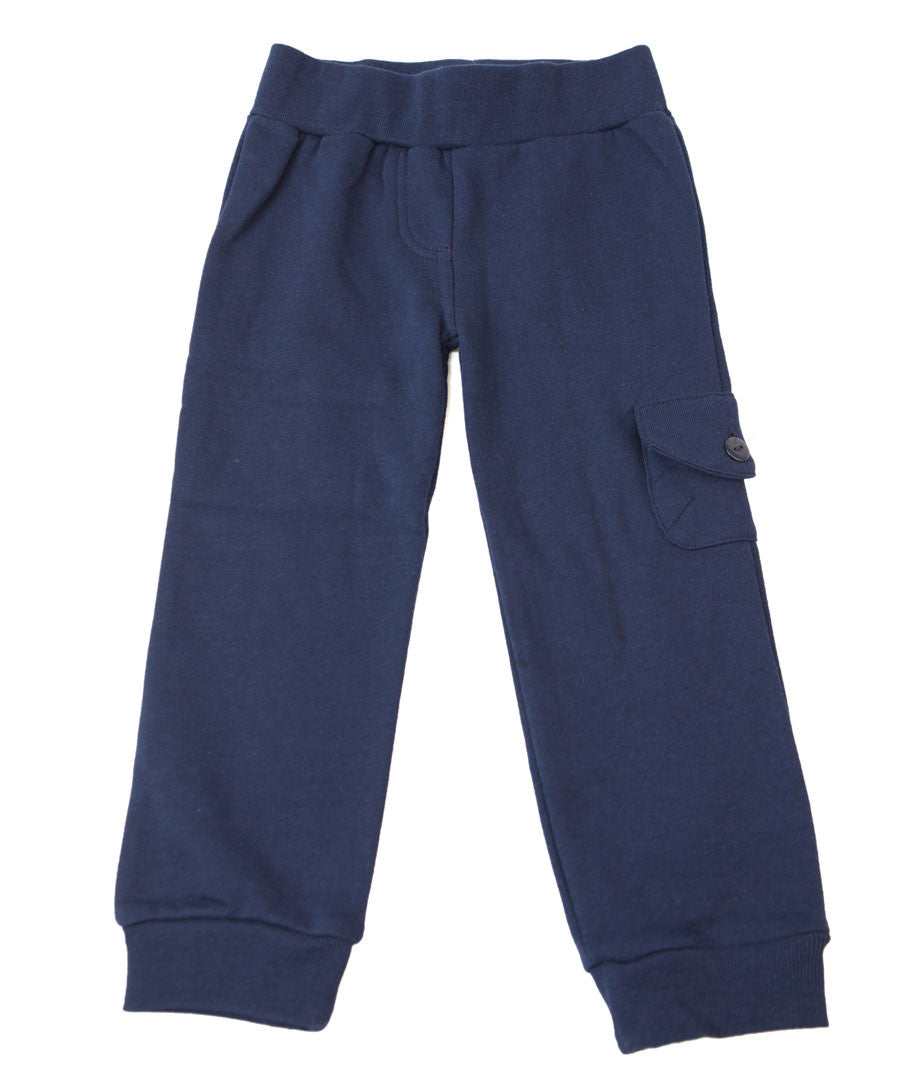 Navy Cargo Trackpants