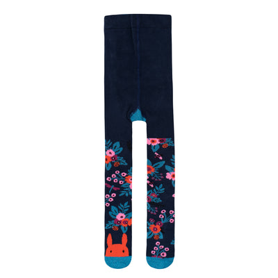 Navy Garden Girls Tights