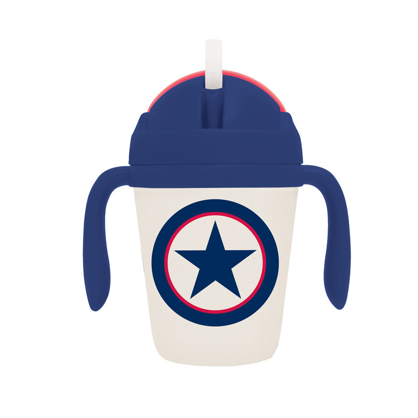 Navy Star Bamboo Sippy Cup