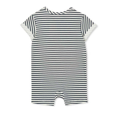 Palm Stripe Baby Romper