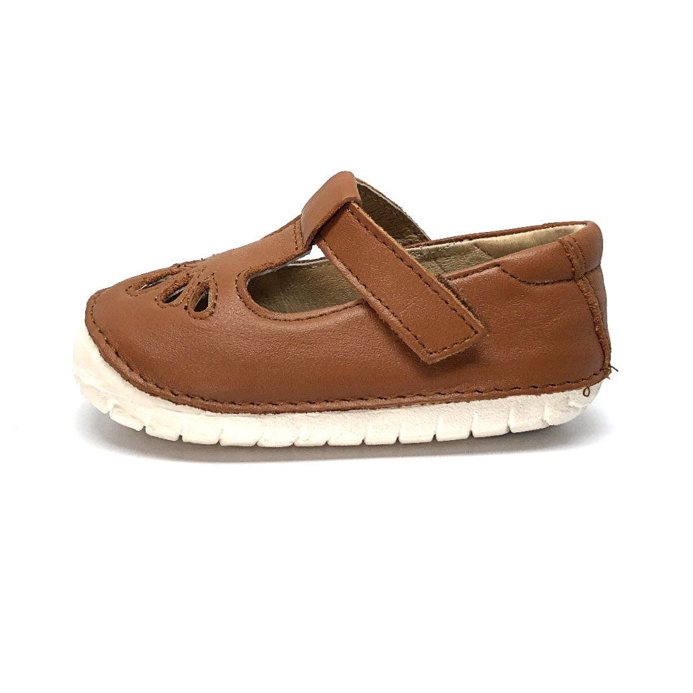 Pave Petal toddler Shoe Tan