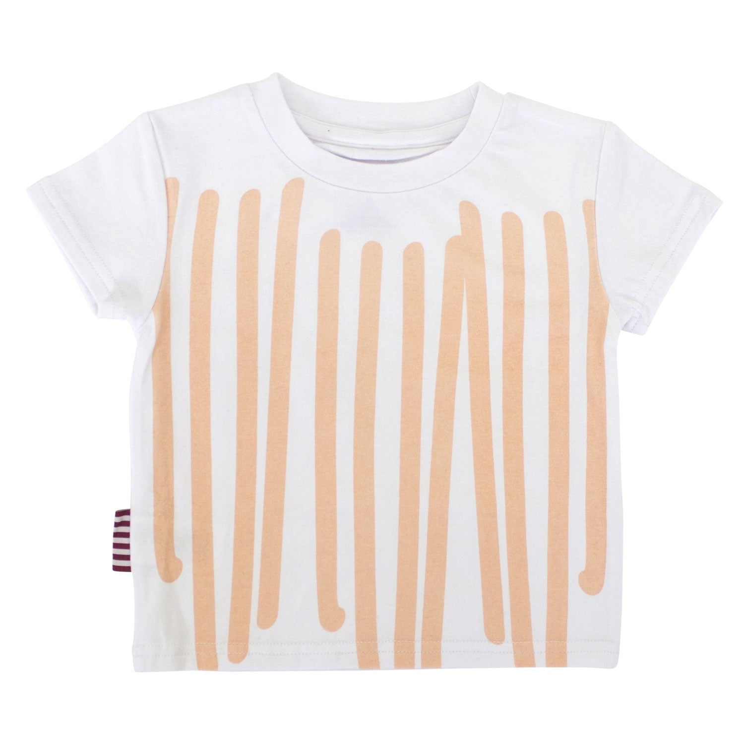 Peach Stripe Toddler Tee