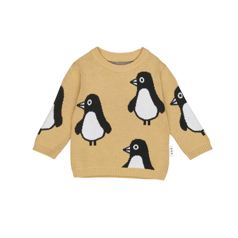 Penguin Knit Jumper Mustard