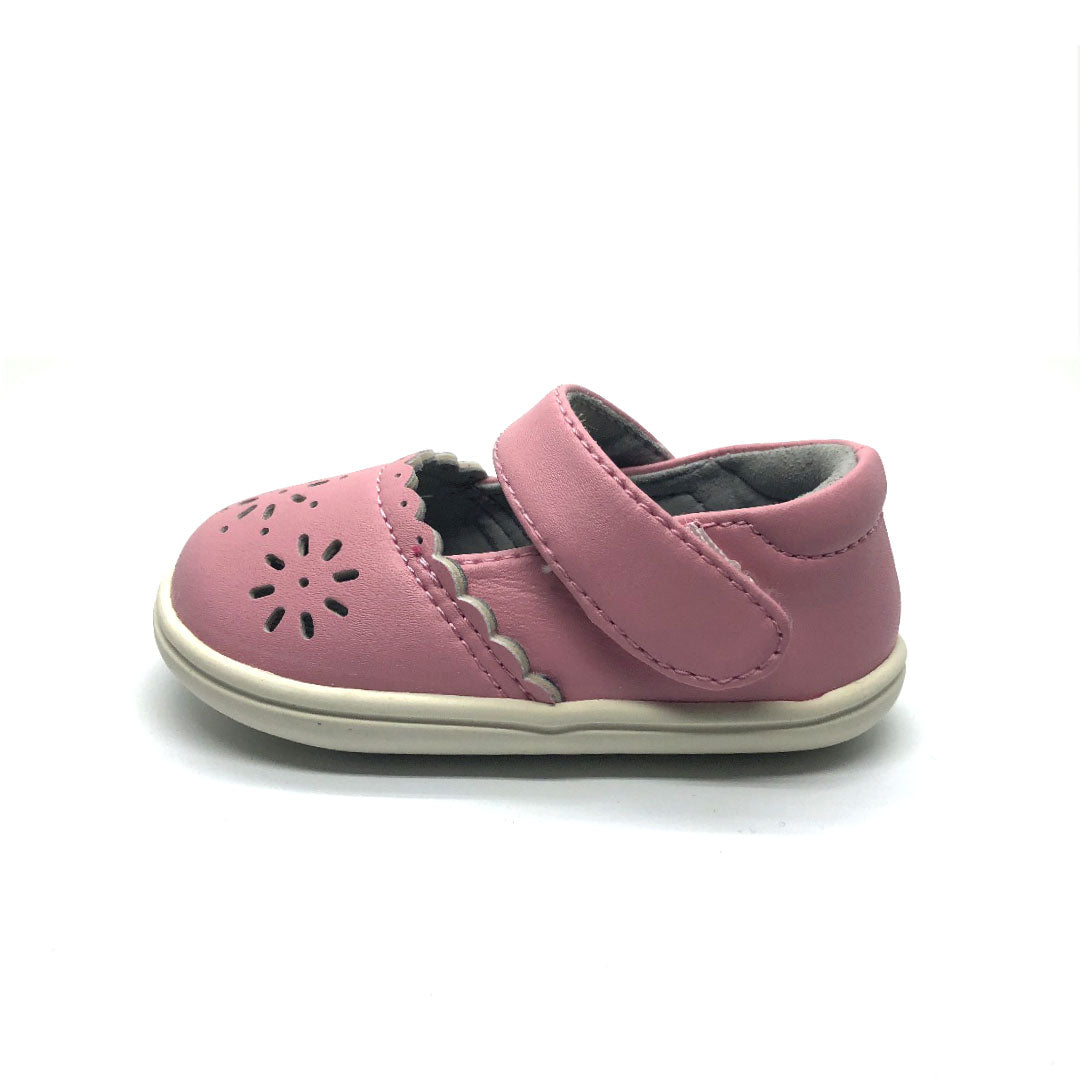 Pink Petal Mary Jane Baby Shoe