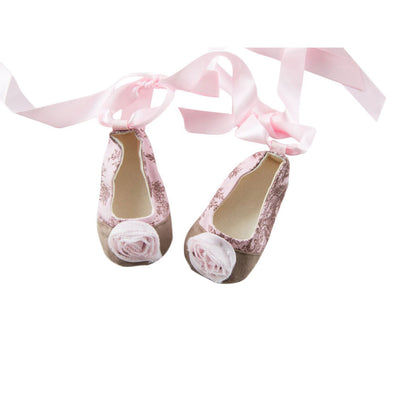 Pink Toile Baby Shoes