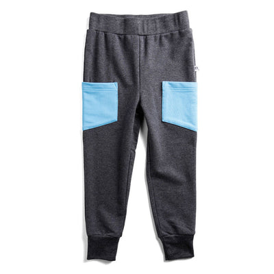 Pocket Trackpants Charcoal/Blue