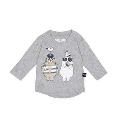 Polar Bear and Walrus Long Sleeve Top