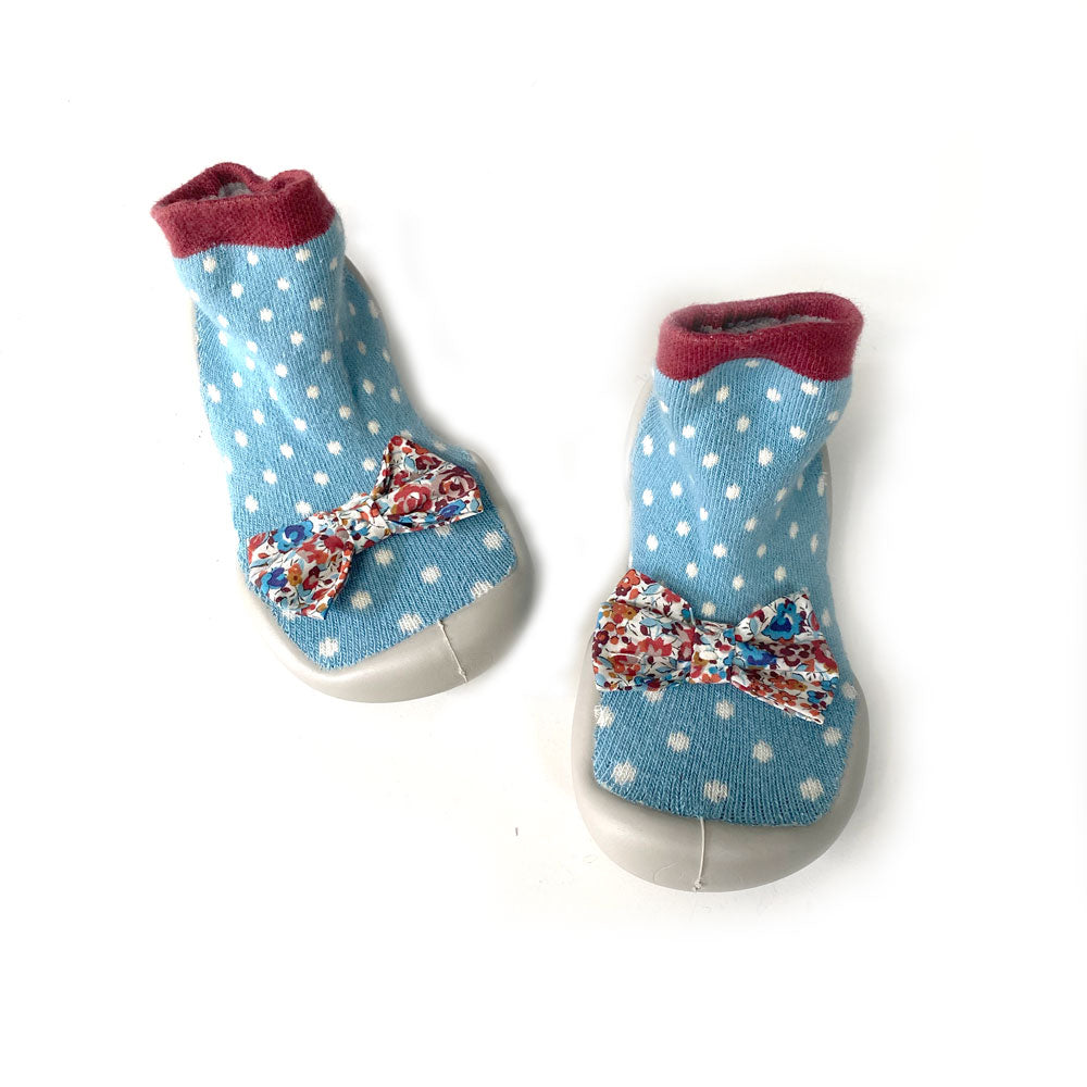 Polka Bow Slipper