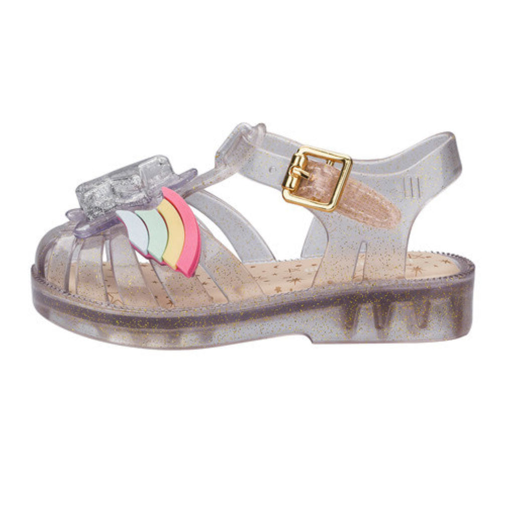 Possession II Clear Glitter Rainbow Sandal