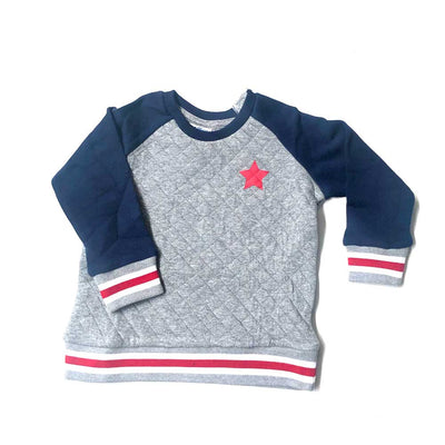 Raglan Quilted Sweat