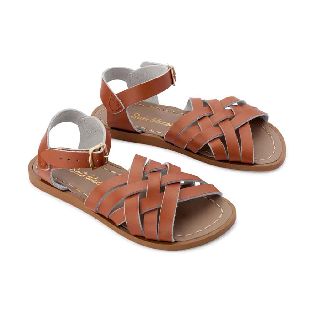 Tan Retro Saltwater Sandals