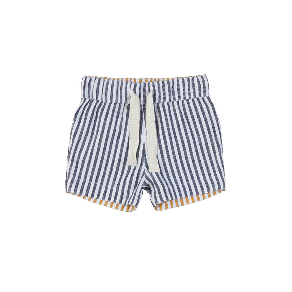 Reversible Chino Short Navy + Mustard