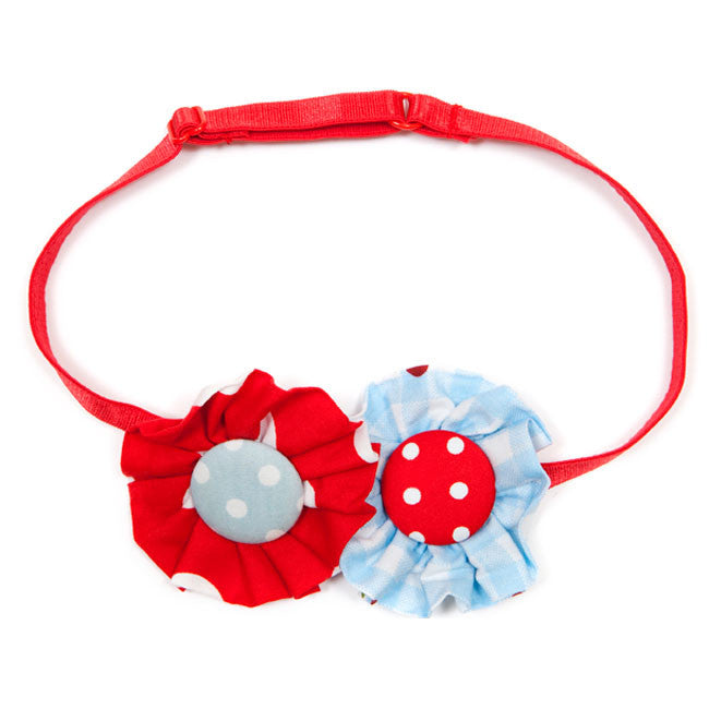 Rosette Headband Double Polka