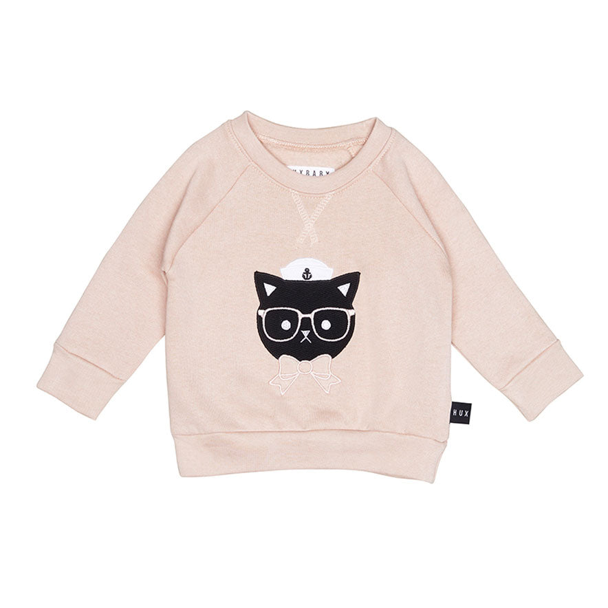 Sailor Cat Sweatshirt Rose