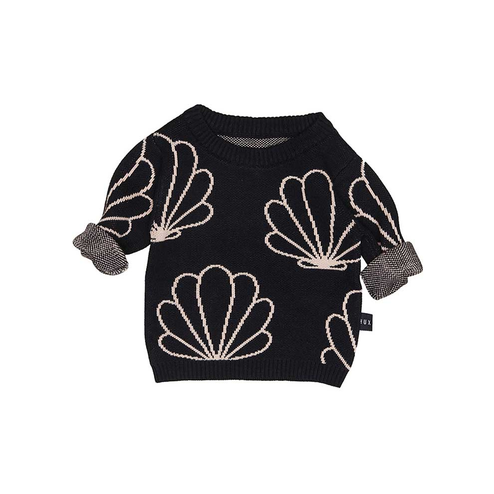 Shell Knit Jumper Black