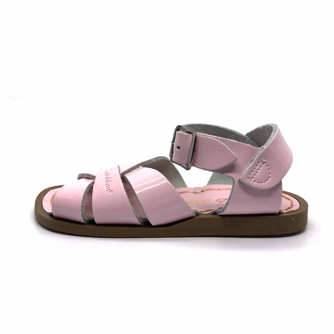 Shiny Pink Saltwater Sandals