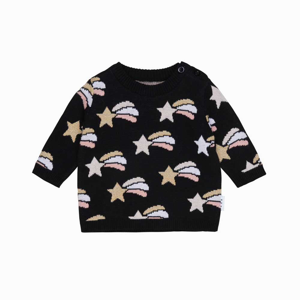 Shooting Star Knit Girls Jumper
