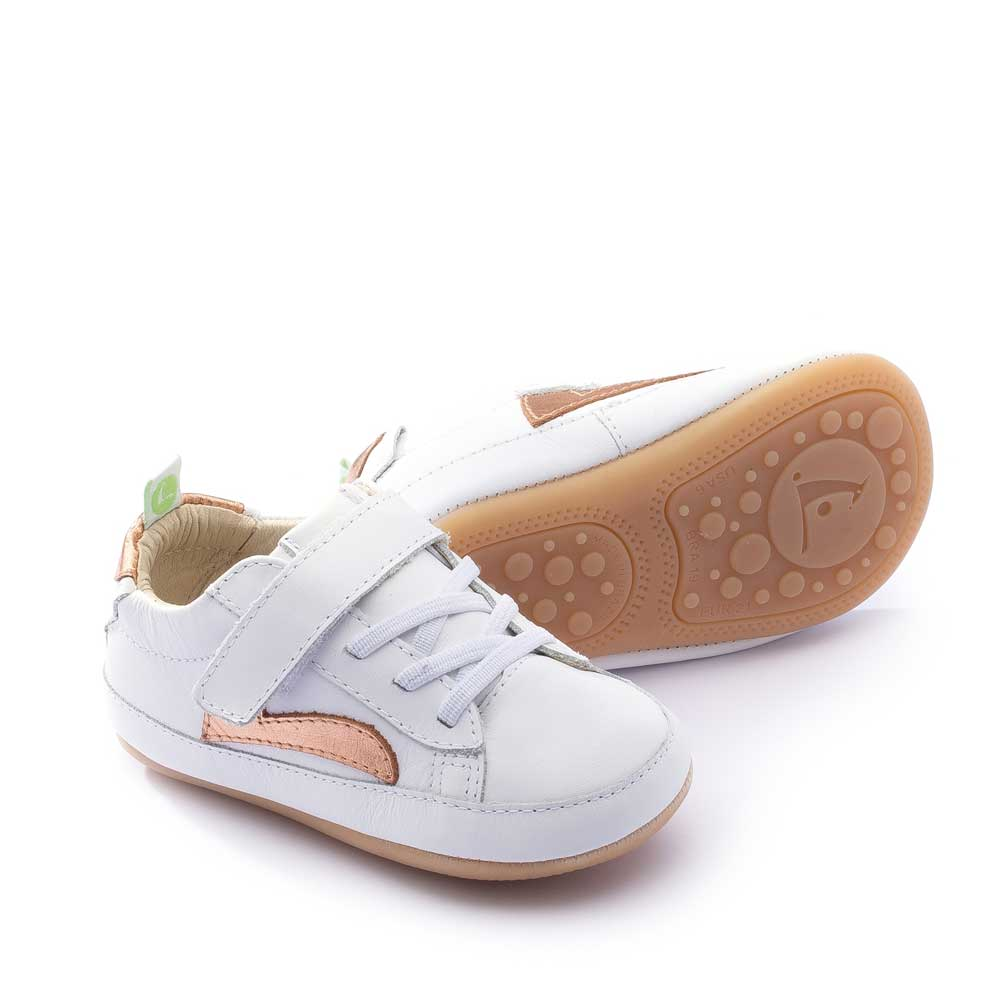 Skidy Baby Shoe White Copper Shine