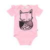 Pink Fox Placement Onesie