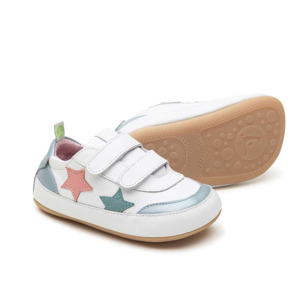 Starry Baby Shoe White