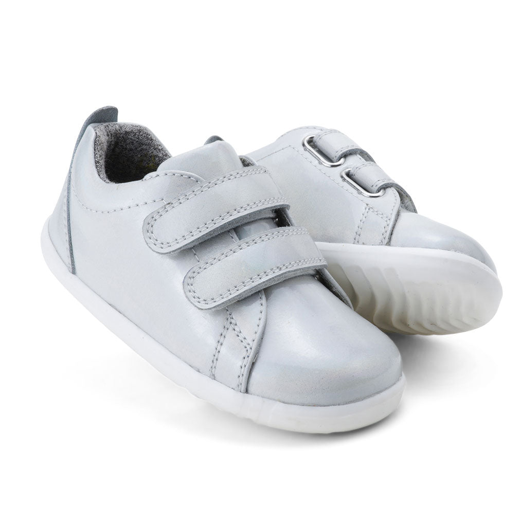 Step Up Waterproof Grasscourt Baby Sneaker White Opal