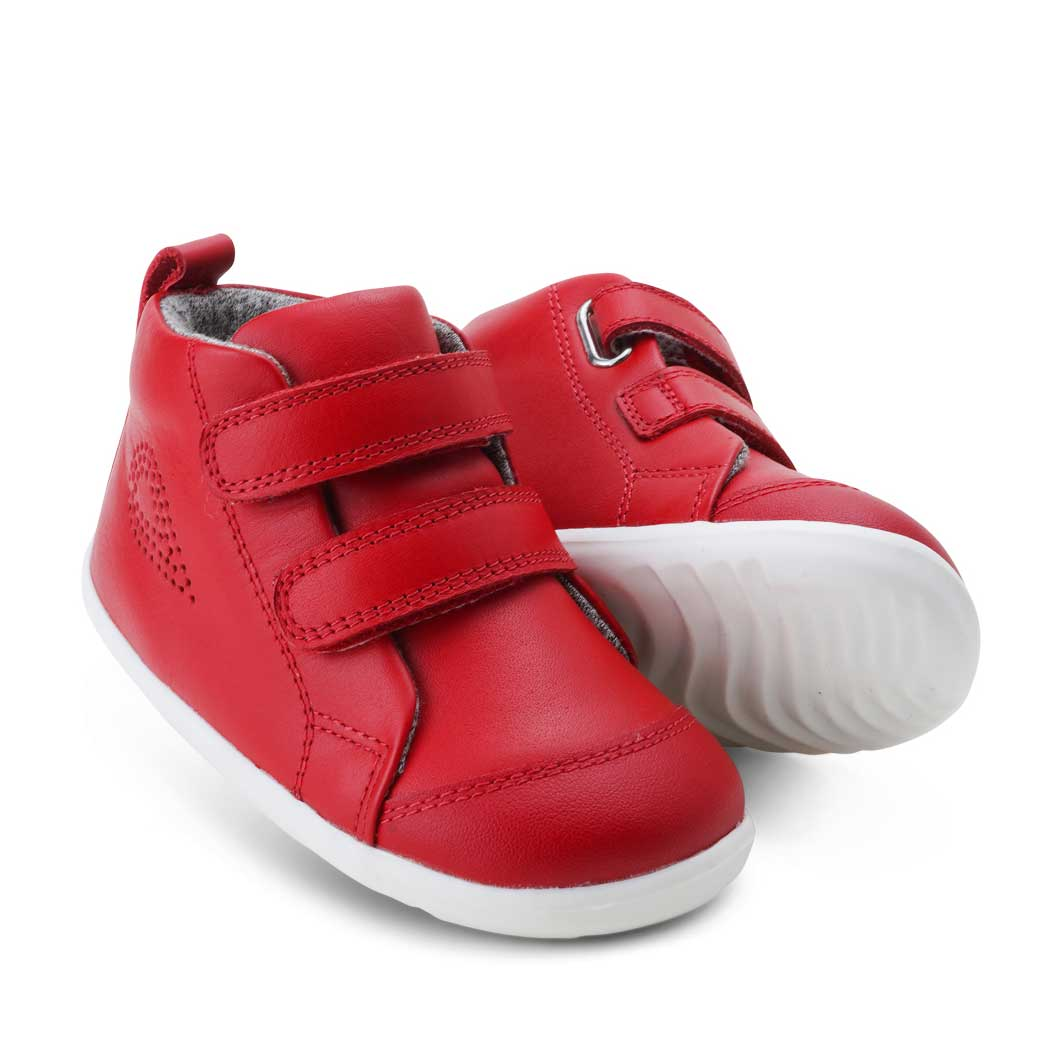 Step Up Hi Court Baby Shoe Red
