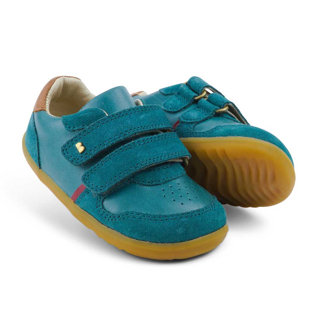 Step Up Riley Baby Sneaker Slate + Caramel