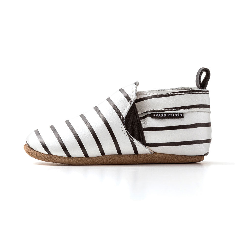 Stripe Slip On Baby Shoe
