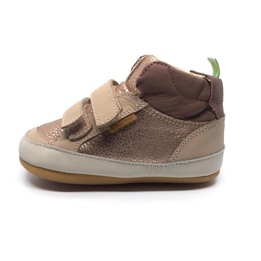 Towny Toddler High Top Yogurt/Pink Gold