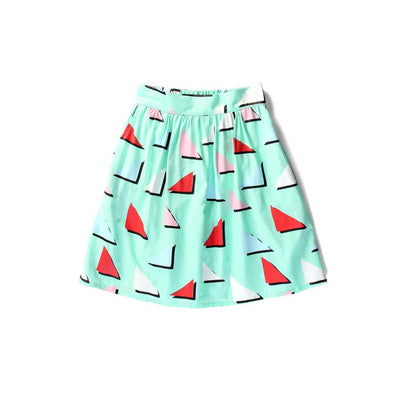 Triangles Skirt Mint