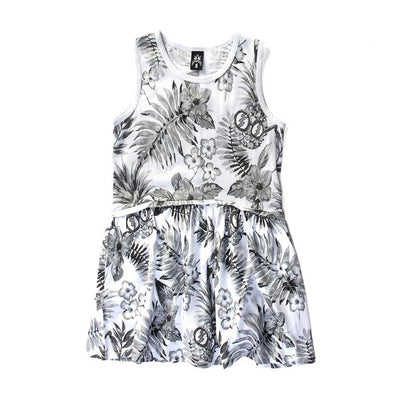 Tropical Drop Waist Dress
