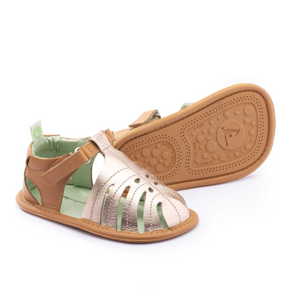 Tropically Baby Sandal Metallic Salmon