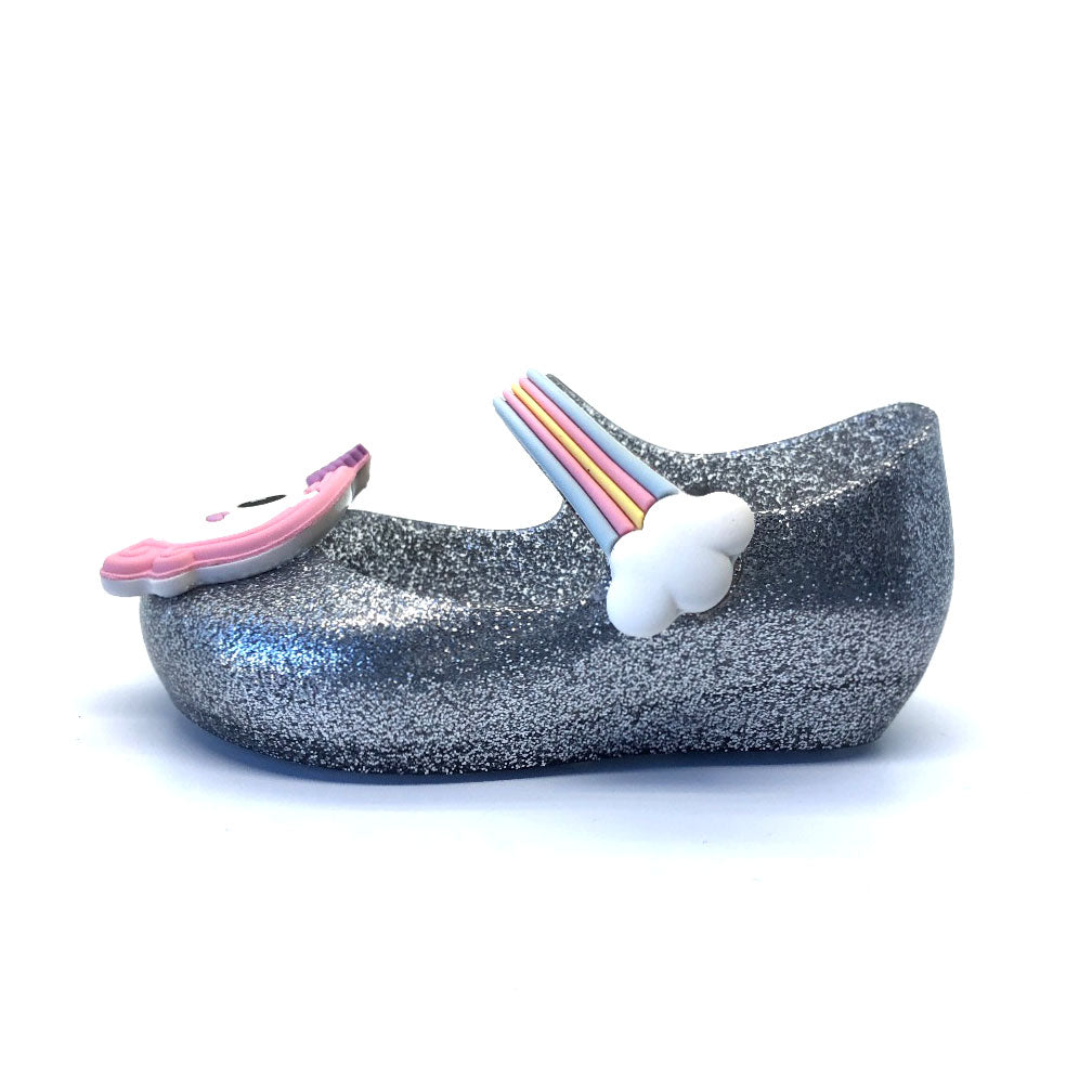 Ultragirl Unicorn Girls Shoes Silver Glitter