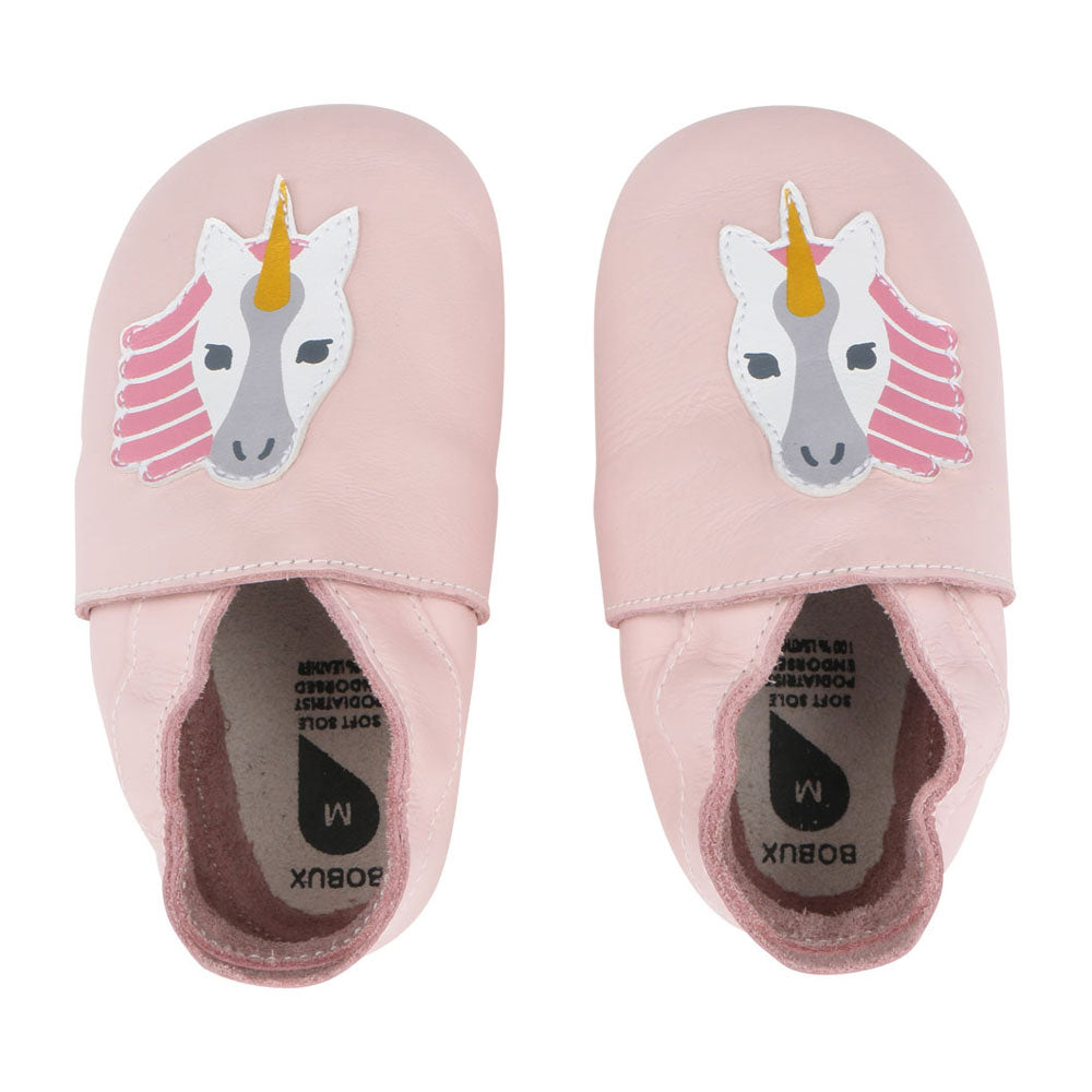 Unicorn Soft Sole Baby Shoe Pink