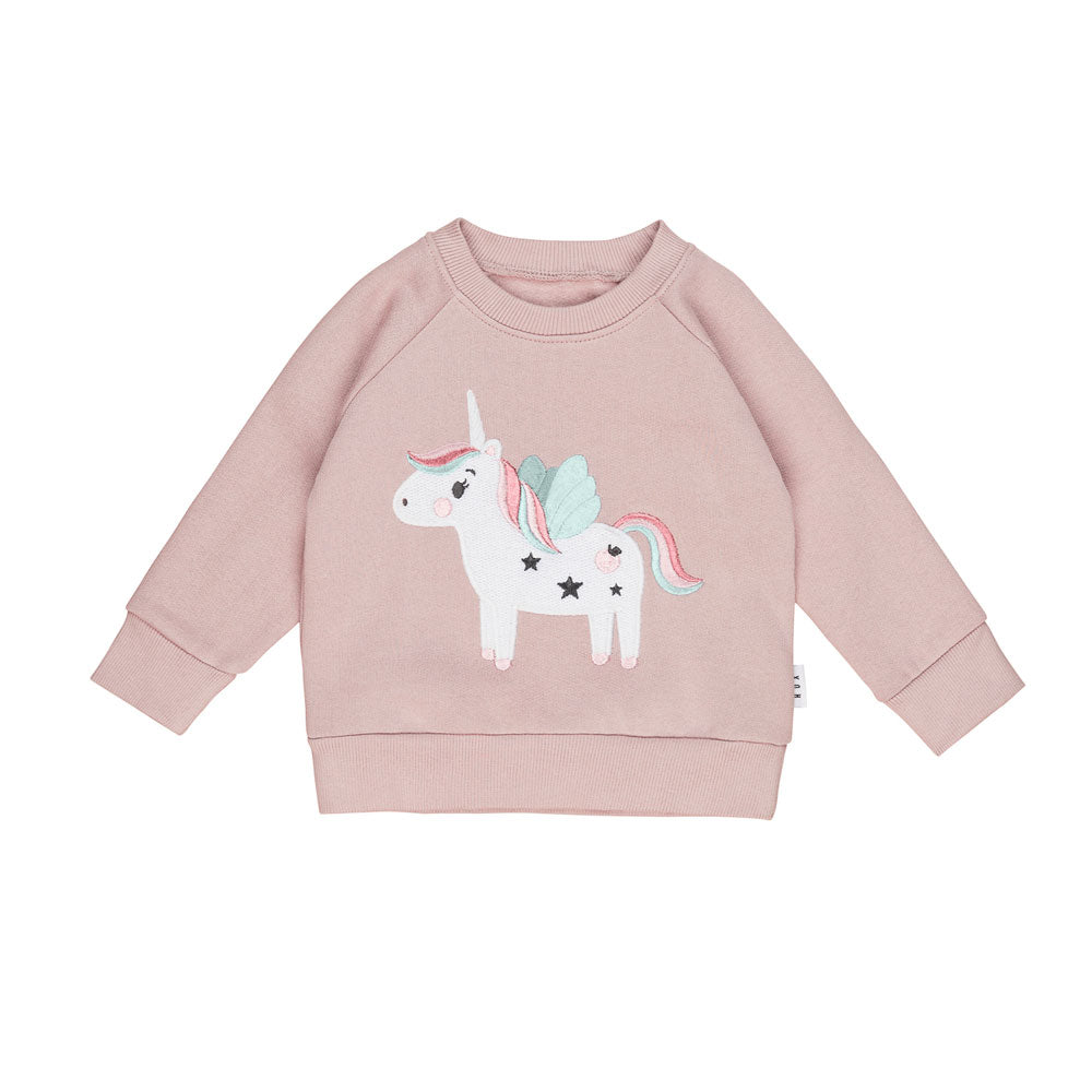 Girls Unicorn Sweatshirt Blush