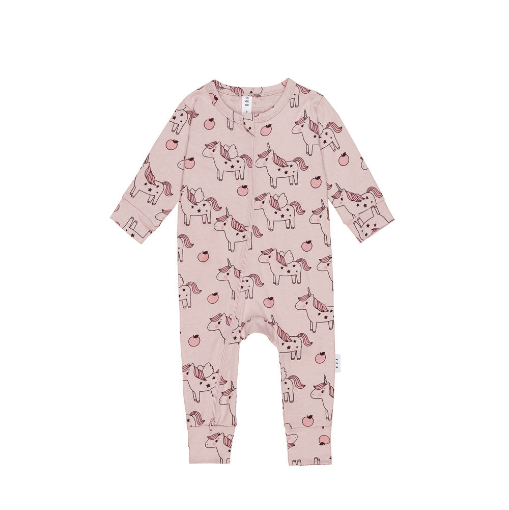 Unicorn Zip Romper Blush