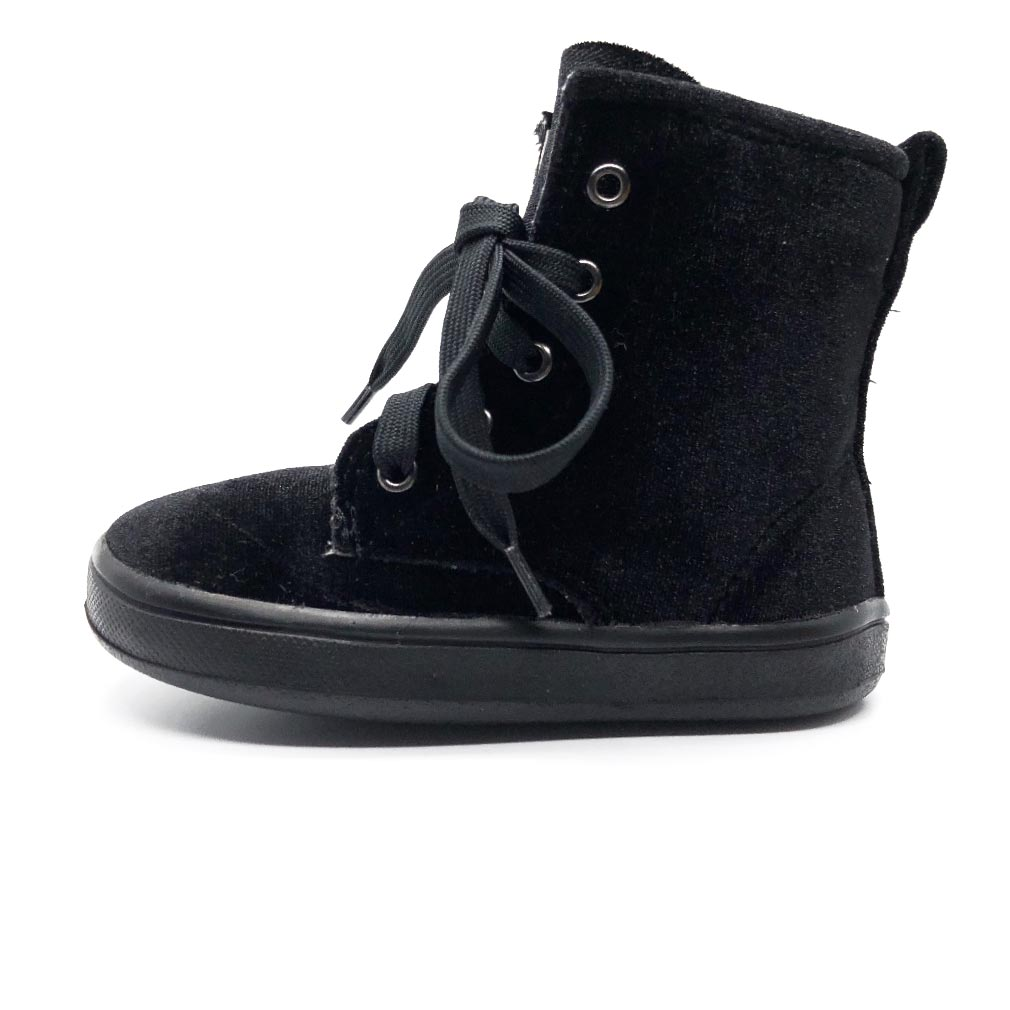 Velvet Swag Toddler Boot Black