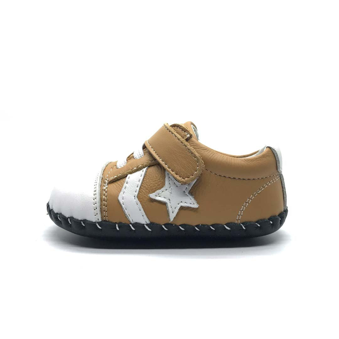 William Baby Shoe Tan Star