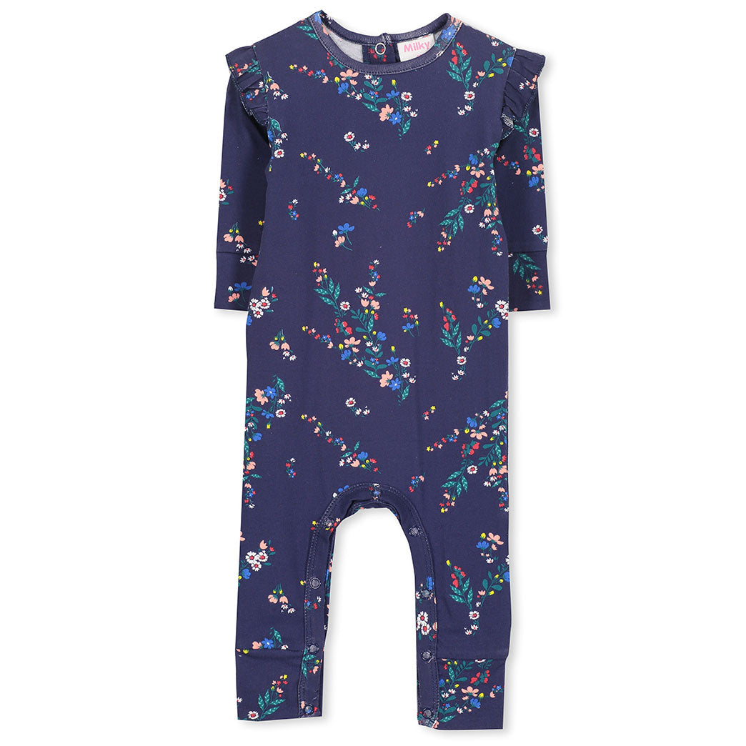 Winter Floral Baby Romper