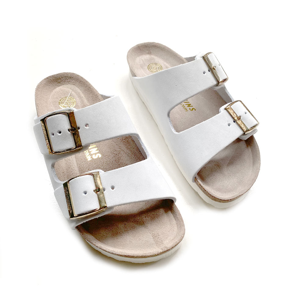 Womens Hawaii White Oiled Leather Sandal
