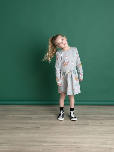 Woodlands Dress Pastel Grey