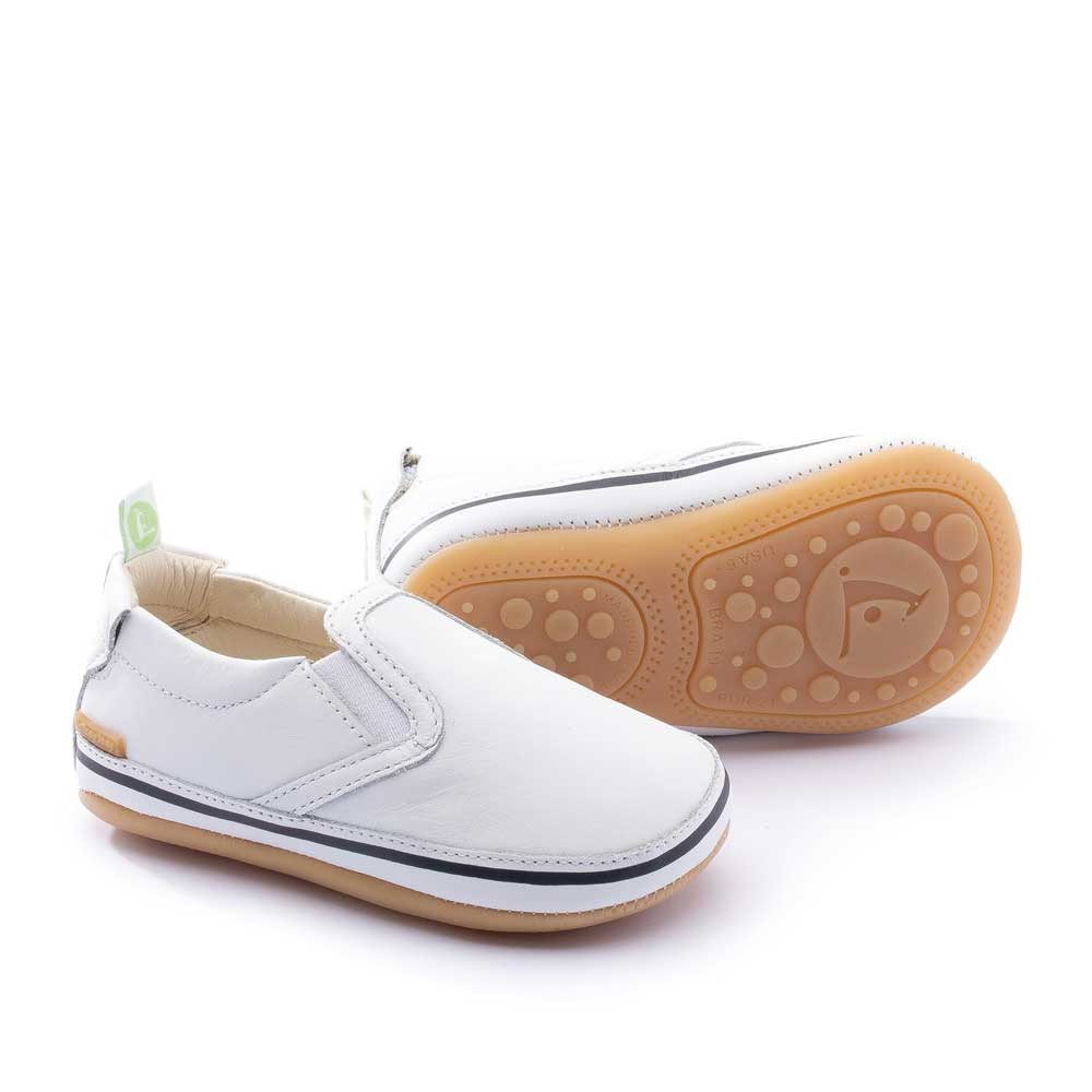 Woody Baby Shoe White