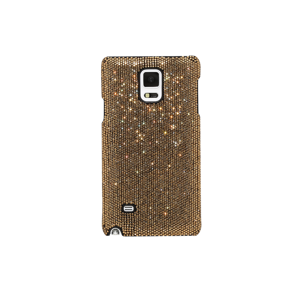 Case for Samsung Galaxy Note 4, Gold Rhinestones