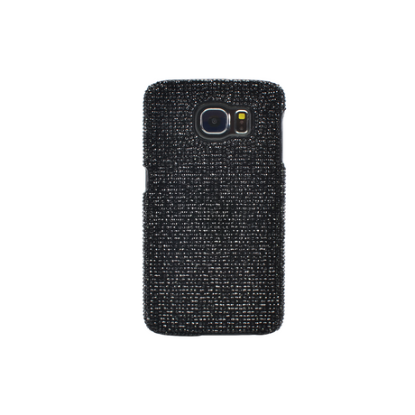 Case for Samsung Galaxy S6, Black Rhinestones