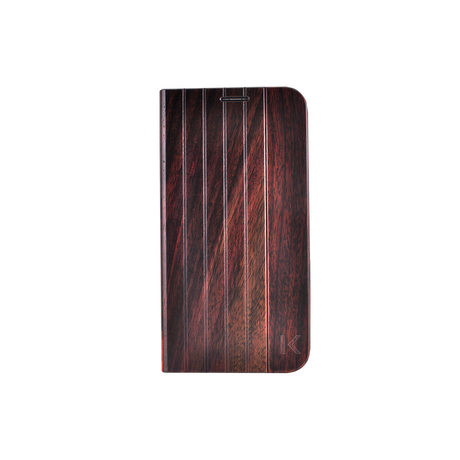 Flip case for Samsung Galaxy S6, Natural Bois de Rosewood