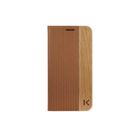 Flip case for Samsung Galaxy S7, Brown & Natural Cherry Wood