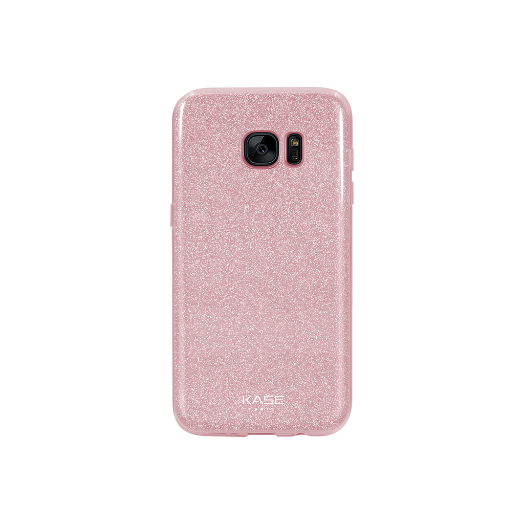 Sparkly Glitter Slim Case for Samsung Galaxy S7 Edge, Rose Gold