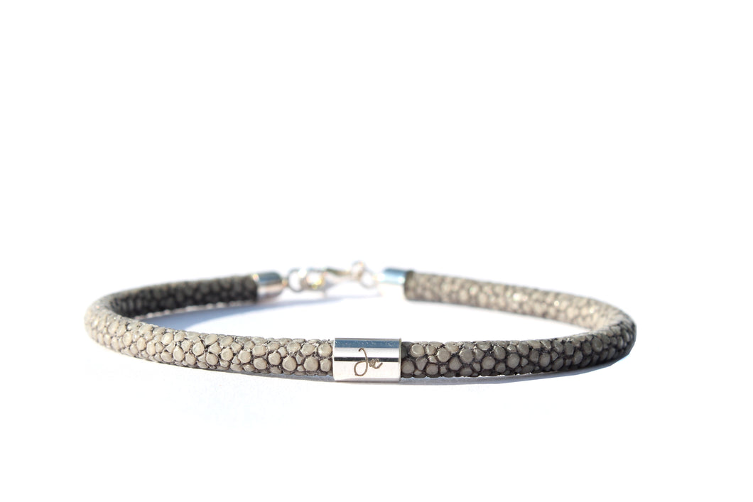 Pearly Ray Perlrochen Armband grau Silber